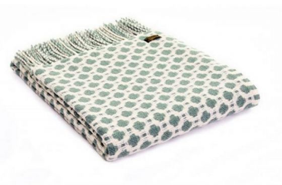 Crossroads Sea Green Wool Blanket / Throw